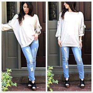 Sweaters - Paris gorgeous shoulder detail Spring sweater
